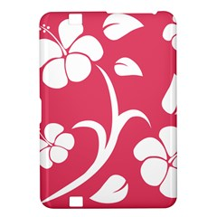Pink Hawaiian Flower White Kindle Fire HD 8.9