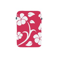 Pink Hawaiian Flower White Apple iPad Mini Protective Soft Cases