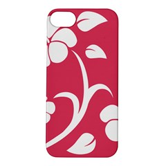 Pink Hawaiian Flower White Apple iPhone 5S/ SE Hardshell Case