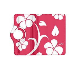 Pink Hawaiian Flower White Kindle Fire HD (2013) Flip 360 Case