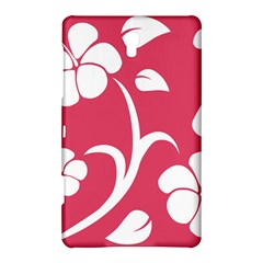 Pink Hawaiian Flower White Samsung Galaxy Tab S (8.4 ) Hardshell Case
