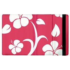 Pink Hawaiian Flower White Apple Ipad Pro 12 9   Flip Case