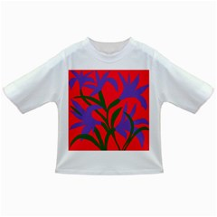 Purple Flower Red Background Infant/Toddler T-Shirts