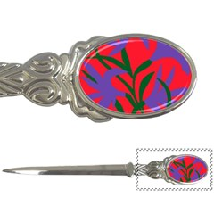 Purple Flower Red Background Letter Openers
