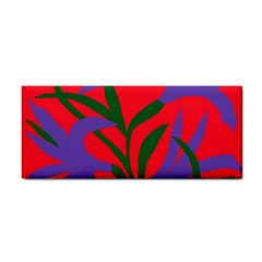 Purple Flower Red Background Cosmetic Storage Cases