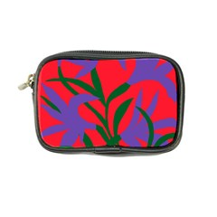 Purple Flower Red Background Coin Purse