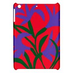 Purple Flower Red Background Apple iPad Mini Hardshell Case