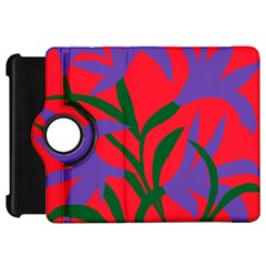 Purple Flower Red Background Kindle Fire HD 7