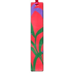Purple Flower Red Background Large Book Marks