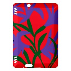 Purple Flower Red Background Kindle Fire HDX Hardshell Case