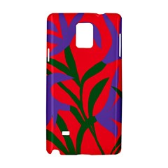 Purple Flower Red Background Samsung Galaxy Note 4 Hardshell Case
