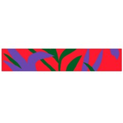 Purple Flower Red Background Flano Scarf (Large)