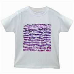 Original Feather Opaque Color Purple Kids White T-Shirts
