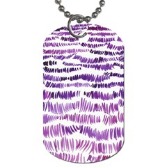 Original Feather Opaque Color Purple Dog Tag (Two Sides)