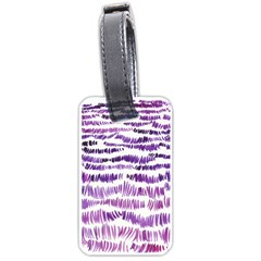 Original Feather Opaque Color Purple Luggage Tags (One Side)