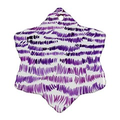 Original Feather Opaque Color Purple Snowflake Ornament (Two Sides)
