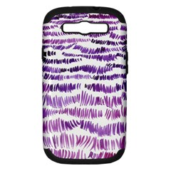 Original Feather Opaque Color Purple Samsung Galaxy S III Hardshell Case (PC+Silicone)