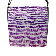 Original Feather Opaque Color Purple Flap Messenger Bag (L)