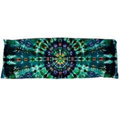 Peacock Throne Flower Green Tie Dye Kaleidoscope Opaque Color Body Pillow Case Dakimakura (Two Sides)