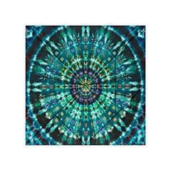 Peacock Throne Flower Green Tie Dye Kaleidoscope Opaque Color Acrylic Tangram Puzzle (4  x 4 )
