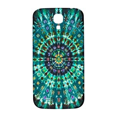 Peacock Throne Flower Green Tie Dye Kaleidoscope Opaque Color Samsung Galaxy S4 I9500/I9505  Hardshell Back Case