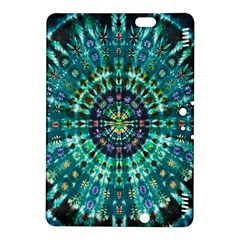 Peacock Throne Flower Green Tie Dye Kaleidoscope Opaque Color Kindle Fire HDX 8.9  Hardshell Case