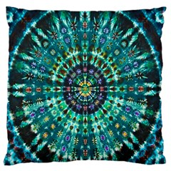 Peacock Throne Flower Green Tie Dye Kaleidoscope Opaque Color Standard Flano Cushion Case (one Side)