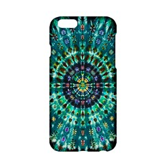 Peacock Throne Flower Green Tie Dye Kaleidoscope Opaque Color Apple iPhone 6/6S Hardshell Case