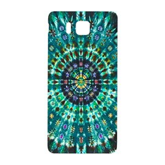 Peacock Throne Flower Green Tie Dye Kaleidoscope Opaque Color Samsung Galaxy Alpha Hardshell Back Case