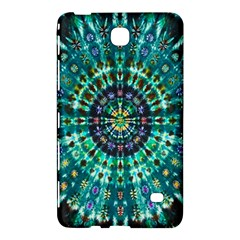 Peacock Throne Flower Green Tie Dye Kaleidoscope Opaque Color Samsung Galaxy Tab 4 (7 ) Hardshell Case