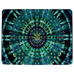 Peacock Throne Flower Green Tie Dye Kaleidoscope Opaque Color Jigsaw Puzzle Photo Stand (Rectangular)