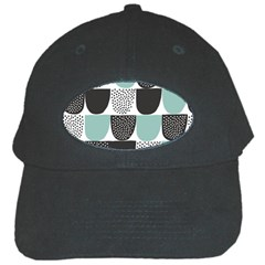 Sugar Blue Fabric Polka Dots Circle Black Cap