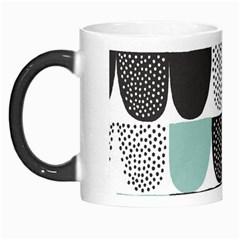 Sugar Blue Fabric Polka Dots Circle Morph Mugs