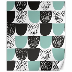 Sugar Blue Fabric Polka Dots Circle Canvas 8  x 10