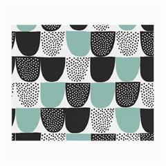 Sugar Blue Fabric Polka Dots Circle Small Glasses Cloth (2-Side)