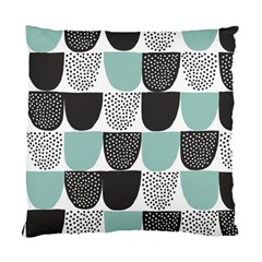 Sugar Blue Fabric Polka Dots Circle Standard Cushion Case (One Side)