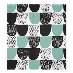 Sugar Blue Fabric Polka Dots Circle Shower Curtain 66  x 72  (Large)