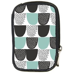 Sugar Blue Fabric Polka Dots Circle Compact Camera Cases