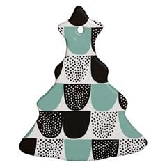 Sugar Blue Fabric Polka Dots Circle Ornament (Christmas Tree)