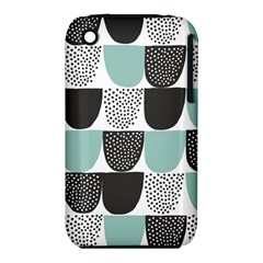 Sugar Blue Fabric Polka Dots Circle iPhone 3S/3GS