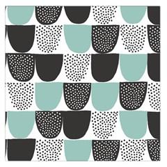 Sugar Blue Fabric Polka Dots Circle Large Satin Scarf (Square)