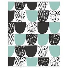 Sugar Blue Fabric Polka Dots Circle Drawstring Bag (Small)