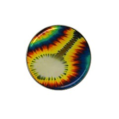 Red Blue Yellow Green Medium Rainbow Tie Dye Kaleidoscope Opaque Color Hat Clip Ball Marker