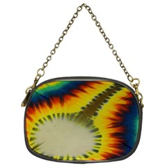 Red Blue Yellow Green Medium Rainbow Tie Dye Kaleidoscope Opaque Color Chain Purses (one Side)