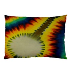 Red Blue Yellow Green Medium Rainbow Tie Dye Kaleidoscope Opaque Color Pillow Case