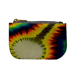Red Blue Yellow Green Medium Rainbow Tie Dye Kaleidoscope Opaque Color Mini Coin Purses