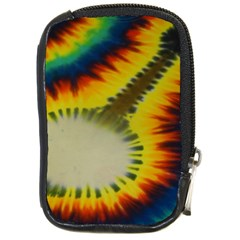 Red Blue Yellow Green Medium Rainbow Tie Dye Kaleidoscope Opaque Color Compact Camera Cases
