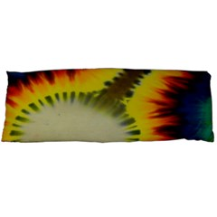 Red Blue Yellow Green Medium Rainbow Tie Dye Kaleidoscope Opaque Color Body Pillow Case Dakimakura (Two Sides)