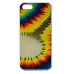 Red Blue Yellow Green Medium Rainbow Tie Dye Kaleidoscope Opaque Color Apple Seamless iPhone 5 Case (Clear)