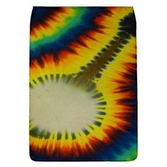 Red Blue Yellow Green Medium Rainbow Tie Dye Kaleidoscope Opaque Color Flap Covers (L)